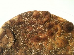 manakish with za'atar spice mix