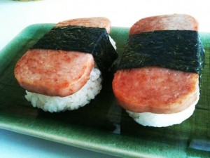 SPAM onigiri (rice ball)